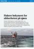 Fiskere bekymret for sikkerheten på sjøen
