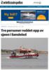 Tre personer reddet opp av sjøen i Søndeled