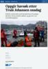 Oppgir havsøk etter Truls Johansen onsdag