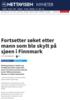 Fortsetter søket etter mann som ble skylt på sjøen i Finnmark