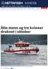 Åtte menn og tre kvinner druknet i oktober
