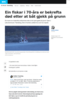 Ein fiskar i 70-åra er bekrefta død etter at båt gjekk på grunn