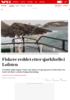 Fiskere reddet etter sjarkforlis i Lofoten