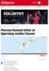 Semitrailer med tung last endte i havet - en person funnet