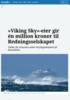 «Viking Sky»-eier gir én million kroner til Redningsselskapet