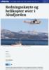 Redningsskøyte og helikopter øver i Altafjorden