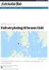 Hentet person opp av vannet etter båtbrann