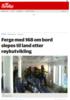 Stor redningsaksjon etter røykutvikling i ferge med 168 om bord