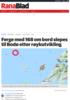 Ferge med 168 om bord slepes til Bodø etter røykutvikling