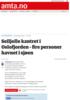 Seiljolle kantret i Oslofjorden - fire personer havnet i sjøen