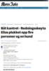 Båt kantret - Redningsskøyta Elias plukket opp fire personer og en hund