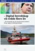 - Digital beredskap vil redde flere liv