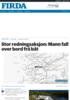 Stor redningsaksjon: Mann fall over bord frå båt