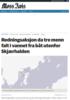 Redningsaksjon da tre menn falt i vannet fra båt utenfor Skjærhalden