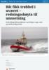Båt fikk trøbbel i uværet - redningsskøyta til unnsetning