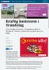 Kraftig høststorm i Trøndelag og Nordland