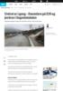 Uvêret er i gang - overfløyming på E39 og jordras i Sogndalsdalen