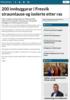 200 innbyggarar i Fresvik straumlause og isolerte etter ras