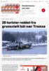 20 turister reddet fra grunnstøtt båt nær Tromsø