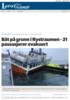 Båt på grunn i Rystraumen - 21 passasjerer evakuert