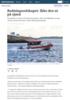 Redningsselskapet oppfordrer: Ikke dra ut på sjøen
