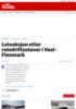 Leteaksjon etter reindriftsutøver i Vest-Finnmark