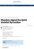 Sjark sendte ut mayday-signal