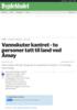 Vannskuter kantret - to personer tatt til land ved Åmøy