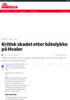 Kritisk skadet etter båtulykke på Hvaler