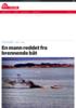 En mann reddet fra brennende båt