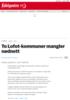 To Lofot-kommuner mangler nødnett