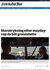 Storutrykning etter mayday-rop da båt grunnstøtte