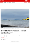 Fanget på web-kamera: Person går vekk fra bobil som trillet i sjøen