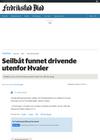 Oppdaget av en tankbåt: Seilbåt funnet drivende utenfor Hvaler