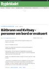 Båtbrann ved Kvitsøy - personer om bord er evakuert