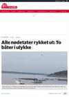 Alle nødetater rykket ut: To båter i ulykke