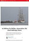 Se bildene fra Melbu: «Statsråden» ble dratt baklengs i havn