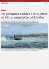 To personer reddet i land etter at båt grunnstøtte på Hvaler