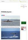 Fritidsbåt på grunn