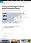 Dramatisk redningsaksjon på Hustadvika: «MS Kong Harald» har fått start og går for eigen maskin