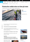 Vindsurfer reddet etter en time på svøm