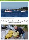 Redningsskøyta har hatt flere oppdrag i Grimstad i sommer